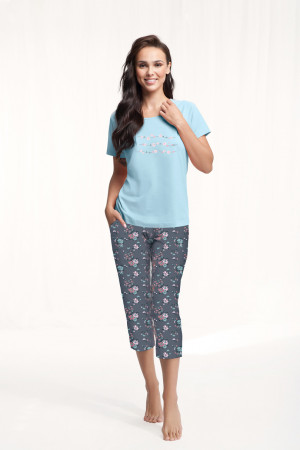 Dámské pyžamo 568 4XL modrá 4XL
