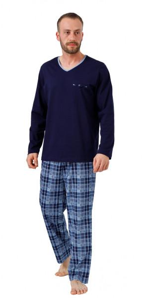 Pánské pyžamo LEON 710 tmavě modrá
