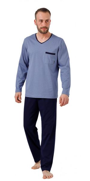 Pánské pyžamo BIG CARL 1002 modrá 3XL