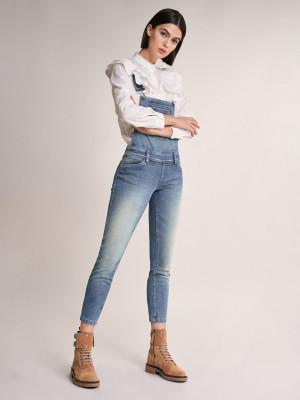 Wonder Push Up Jeans s laclem Salsa Jeans Modrá