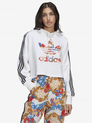Boxy Mikina adidas Originals Bílá