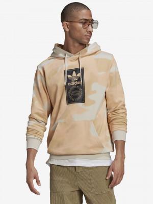 Camo Allover Print Mikina adidas Originals Béžová