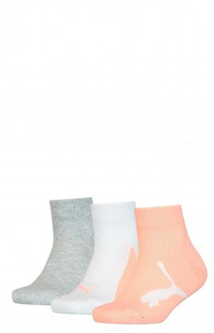 Dámské/dívčí ponožky Puma 907961 Soft Cotton A'3 31-42 korálové kombo 31-34