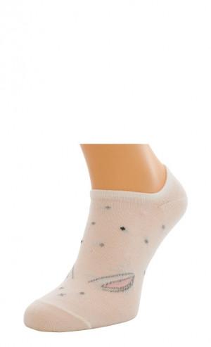 Dámské ponožky Bratex 9612 Bambus vzor 36-41 bílý 36-38