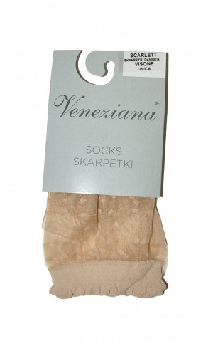 Dámské ponožky Scarlett - Veneziana ecri(krémová) uni