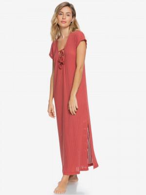 Summer Pink Wave Beach Šaty Roxy Růžová