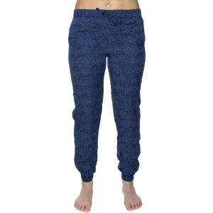 Dámské kalhoty na spaní QS6027E-GFG modrobílá - Calvin Klein modro-bílá