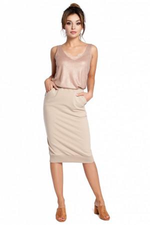 Dámská sukně B031 - BEwear béžová XL-42