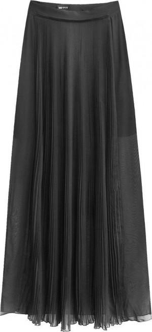 Dámská sukně v grafitové barvě s délkou maxi (291ART) grafit S (36)
