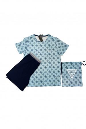 Pánské pyžamo U02X01JR018-G764 modrá - Guess modrá