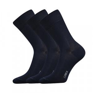 3PACK ponožky Lonka bambusové tmavě modré (Debob) 35-38