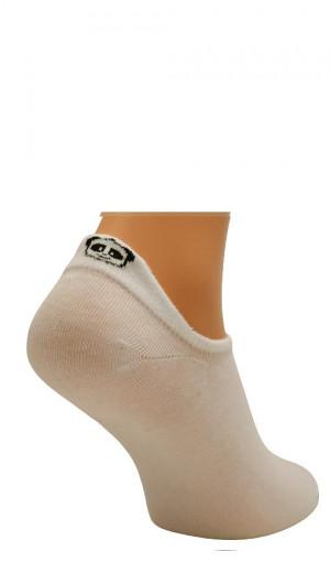 Dámské ponožky Bratex D-059 Lady Tab bílý 36-38