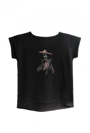 Dámské tričko AJS 9026 Dáma 2 Černá