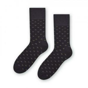 Ponožky k obleku - se vzorem 056 grafit 39-41