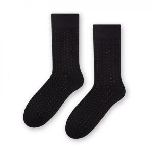 Ponožky k obleku - se vzorem 056 Černá 45-47