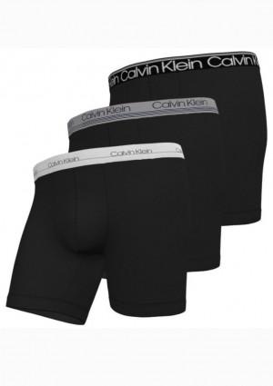 Pánské boxerky Calvin Klein NB2337 3Pack L Černá