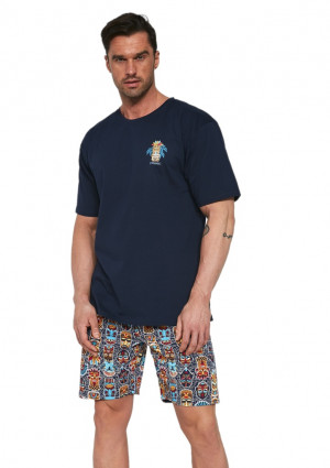 Pánské pyžamo Cornette 326/109 L Tm. modrá