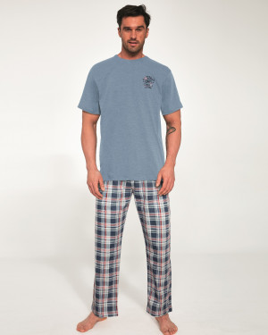Pánské pyžamo Cornette 134/115 Ontario 5 kr/r S-2XL modrá melanž