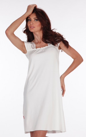 Dámská noční košile MARIETTE 969 - DE LAFENSE mocca