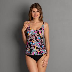 Dámské plavky Noemi Top Tankini - horní díl M0 8853 - Rosa Faia černá- MIX barev 40/80C