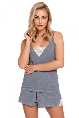 Dámské pyžamo Dn-nightwear PM.4228 tmavě šedá m