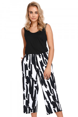 Dámské pyžamové kalhoty Dn-nightwear SPO.4209 Černá l