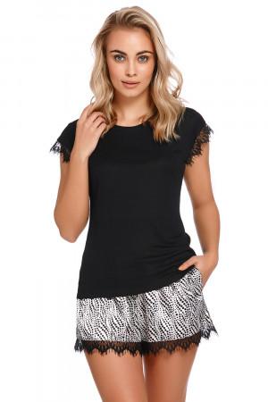 Dámské pyžamové šortky Dn-nightwear SHO.4234 Černá xl