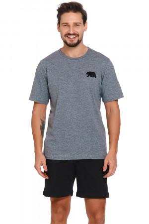 Pánské pyžamo Dn-nightwear PMB.4251 tmavě šedá l