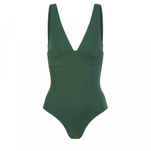 Dámské jednodílné plavky HIDDEN WIRES 1DKB17 Palm green(645) - Simone Perele Palm green 3B