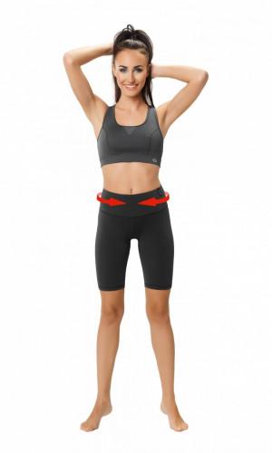 Fitness šortky Slimming shorts - WINNER černá