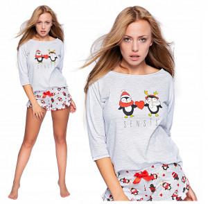 Dámské pyžamo WINTER PINGU - Sensis šedá