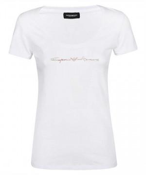 Dámské tričko 163377 1P223 00010 - Emporio Armani bílá