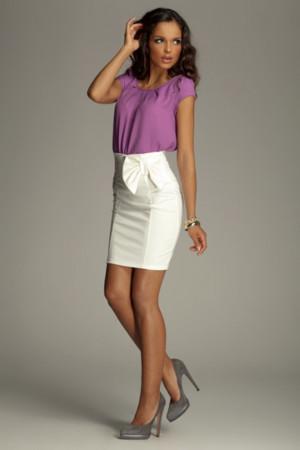 Dámská sukně M080 - Figl ecru