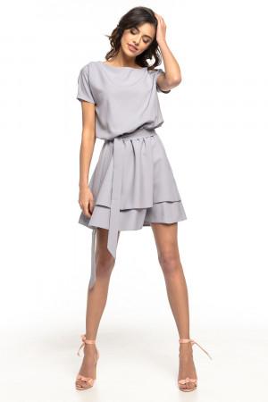 Dámské šaty T268 - Tessita světle šedá M-38