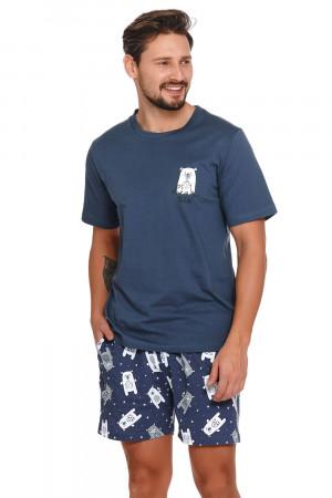 Pánské pyžamo Doctor Nap PMB.4222 tmavě modrá 2xl