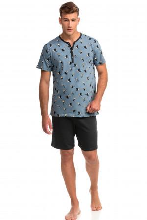 Vamp - Pohodlné dvoudílné pánské pyžamo 14731 - Vamp blue mirage l