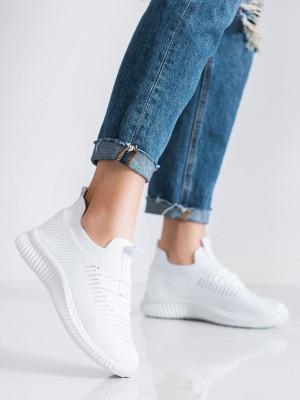 Krásné  tenisky dámské bílé bez podpatku