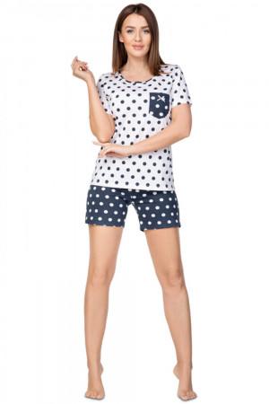 Dámské pyžamo granatowa plus - REGINA
