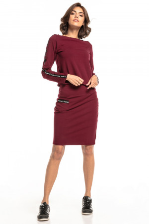 Dámská sukně T329 - Tessita vínová S-36
