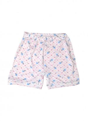 Dámské podvlékací kalhotky Gucio 0161 3XL-4XL A'5 bílé květy 3XL