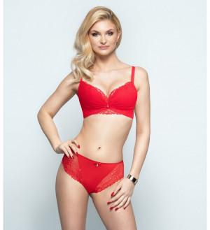 Dámské kalhotky brazilky Konrad New Chloe Červené Červené