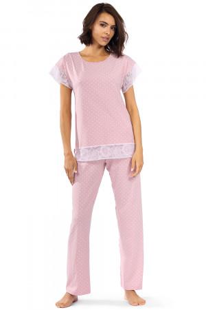 Dámské pyžamo Lorin P-1524 Práškově růžová