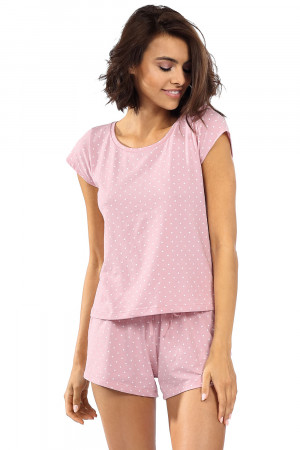 Dámské pyžamo Lorin P-1526 Práškově růžová