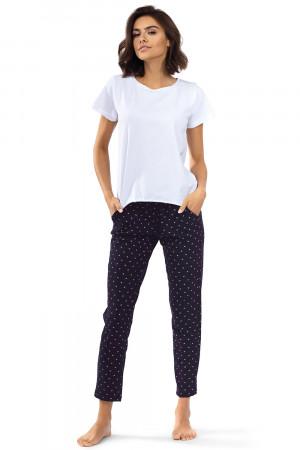 Dámské pyžamo Lorin P-1537 bílá / tmavě modrá