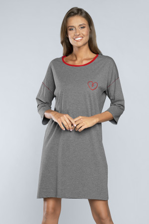 Dámská noční košile Italian Fashion Akcent r.3/4 střední melanž s