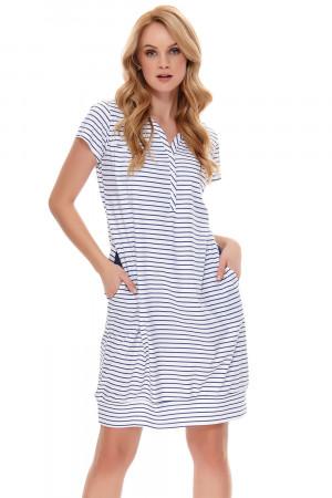 Těhotenská/kojící noční košile Dn-nightwear TCB.9625 tmavě modrá l