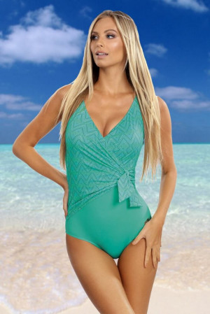 Jednodílné plavky Layla zelené