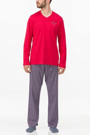 Vamp - Pánské pohodlné pyžamo 11698 - Vamp blue 5xl