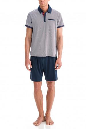 Vamp - Pánské pyžamo 12616 - Vamp blue oxford m