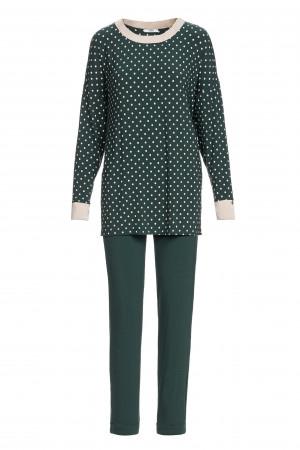 Vamp - Dámské elegantní pyžamo s puntíky 13220 - Vamp green scarab l